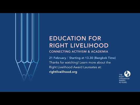 Education for Right Livelihood – Connecting Activism and Academia