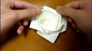 origami rose kitchen papertowel