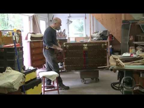 Restoring an Antique Louis Vuitton Steamer Trunk - Thomas Johnson Antique Furniture Restoration