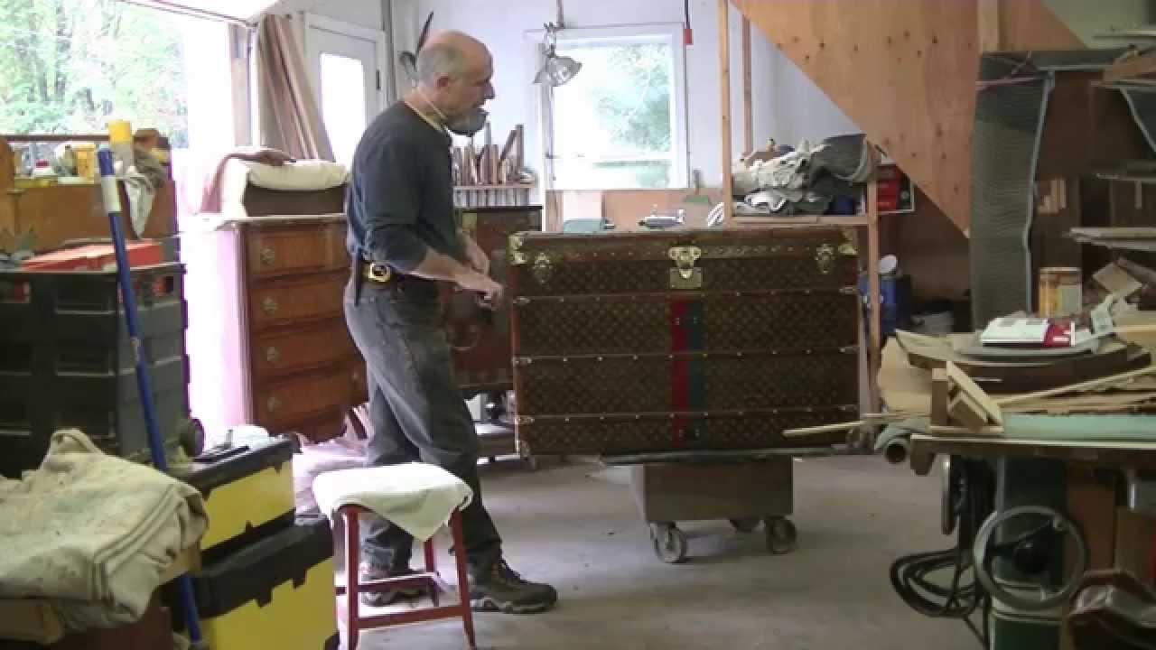 Restoring an Antique Louis Vuitton Steamer Trunk  Thomas
