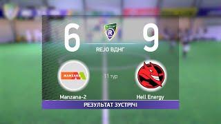 Обзор матча Manzana 2 9 6 Hell Energy Турнир по мини футболу в городе Киев