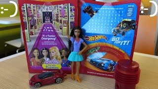 McDonald's Happy Meal for Kids: Hot Wheels Cars and Barbie Dolls