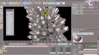 Crystals in Cinema 4D - Tutorial #9 - Part1