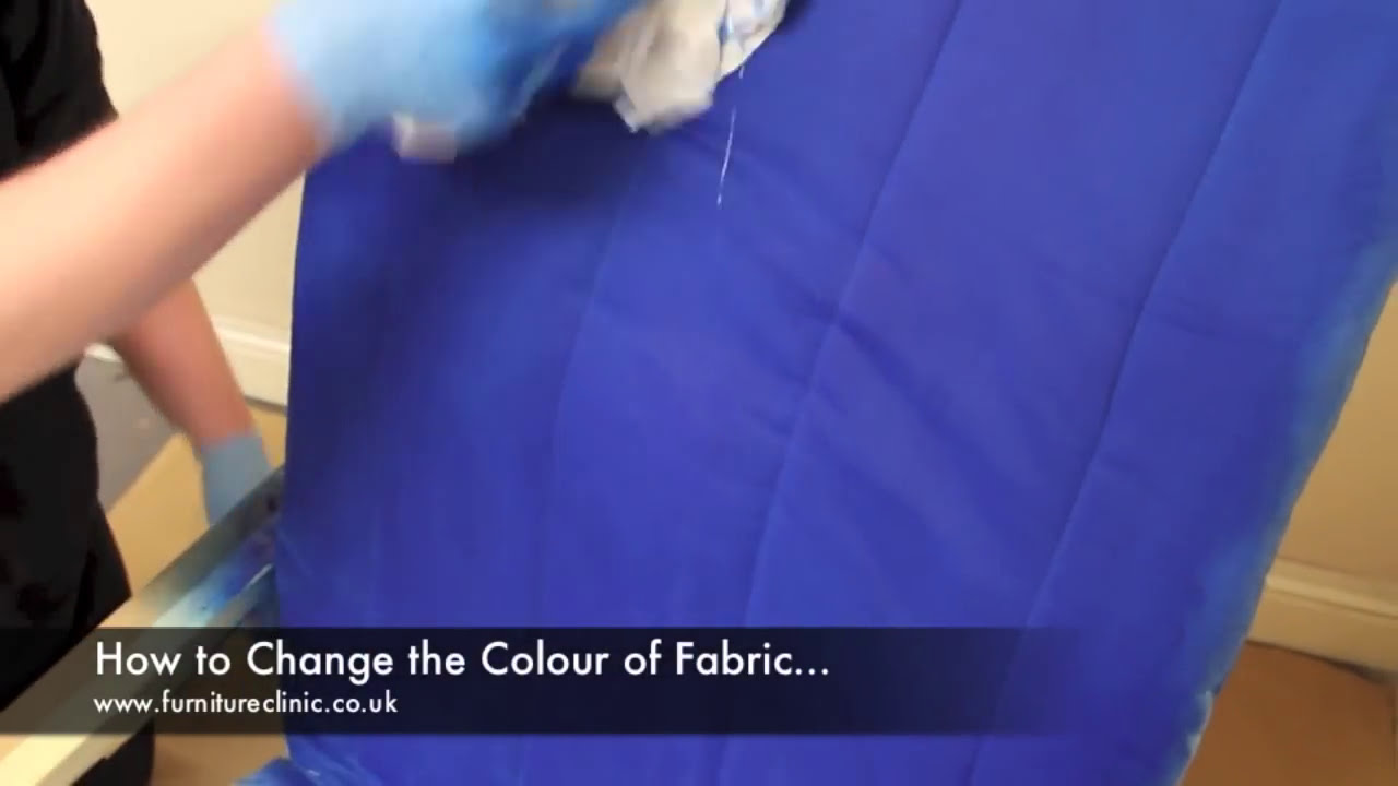 Change The Colour Of Fabric Upholstery Youtube