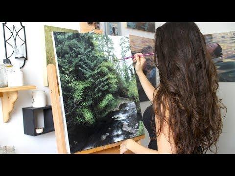 Oil Painting Time Lapse   Oregon Landscape