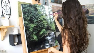 Oil Painting Time Lapse | Oregon Landscape