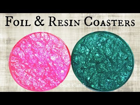 DIY Foil and Resin Coasters | Another Coaster Friday | Craft Klatch