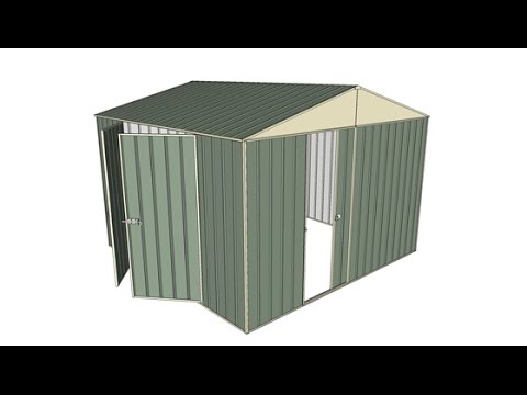 Garden Sheds 3x3 3x3 sliding door garden shed with double hinged side doors - youtube