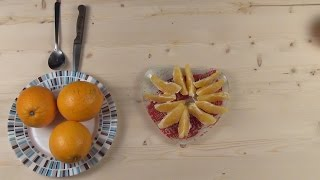 Как почистить апельсин за 10 секунд