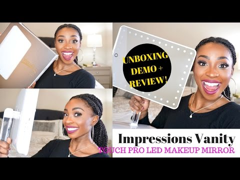 UNBOXING & REVIEW | IMPRESSIONS VANITY TOUCH PRO LED MAKEUP MIRROR