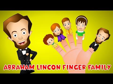 Abraham Lincoln Finger Family Song | Historic Finger Family for Kids