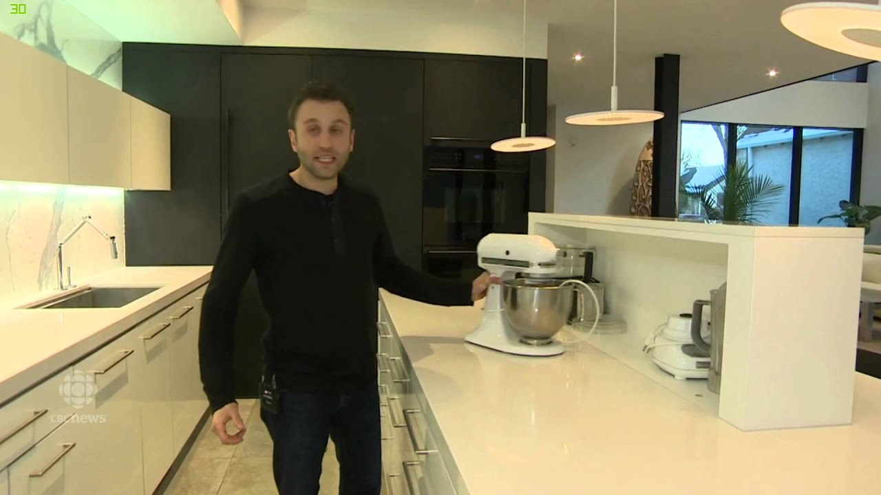 Awarded Best Kitchen In The World, Kitchen Island Appliance Garage Using  Column Lift   YouTube