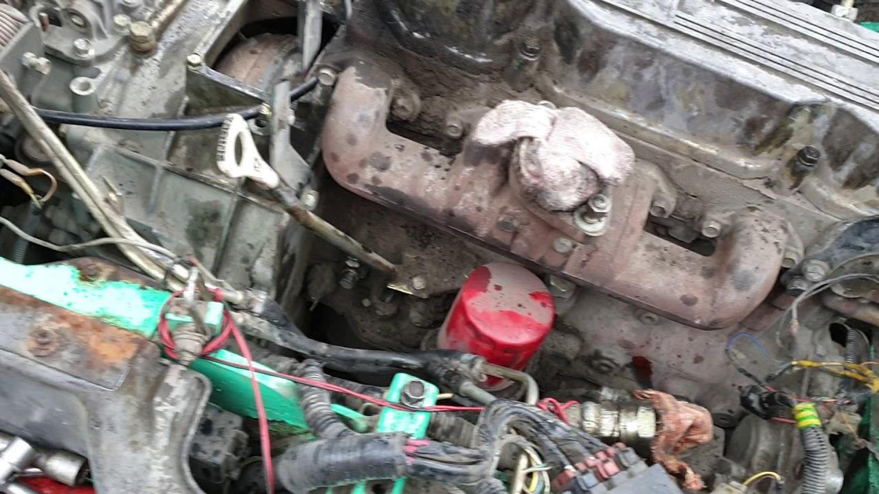 Погрузчик Mitsubishi, подготовка к ремонту двигателя S4Q2 .часть первая