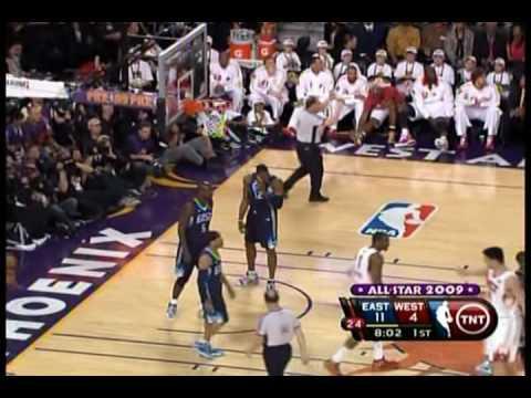 Dwight Howard Sick Block on Chris Paul!! All Star Game 2009