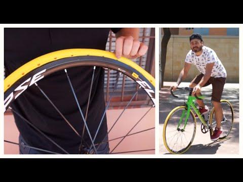Montando la rueda que NUNCA pincha