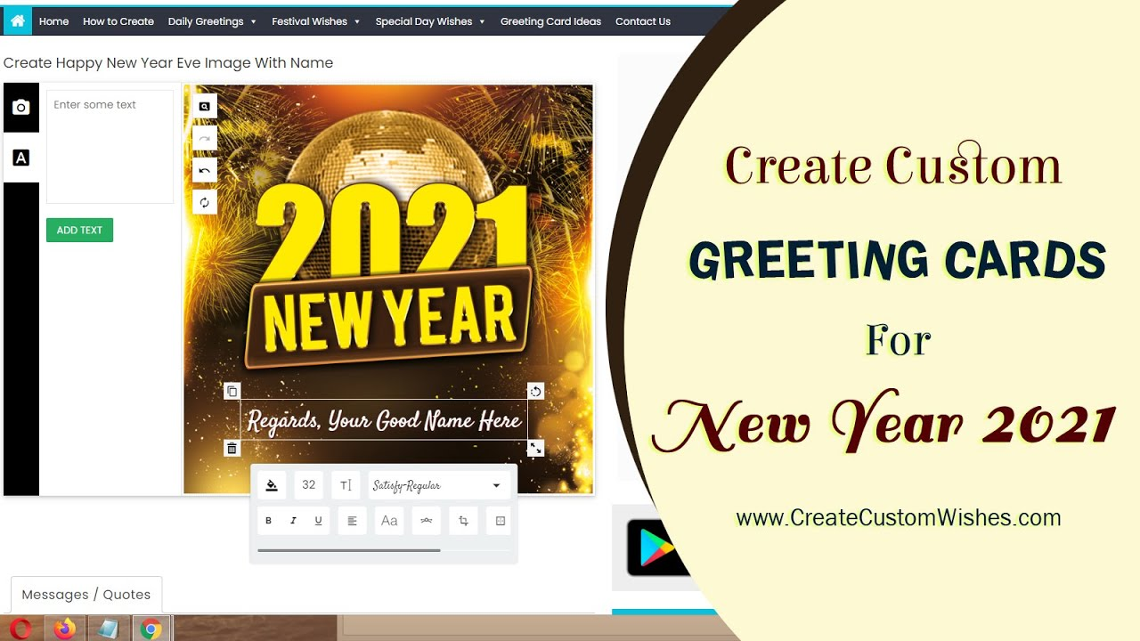 How To Create Happy New Year 2019 Wishes And Greetings Cards With