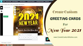 How to Create Happy New Year 2020 Wishes and Greetings Cards with Name and Message