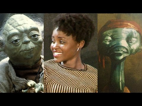 Star Wars The Force Awakens Lupita Nyong'o & JJ Abrams Talk Maz Kanata & Yoda