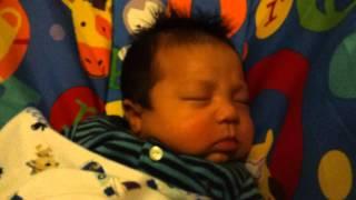Titus Q snoring 1 month old