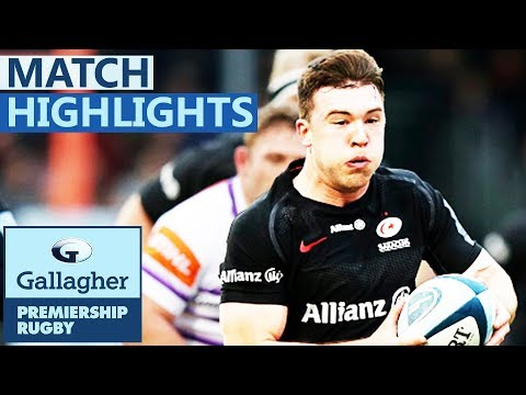 Saracens 33-10 Leicester | Saracens Go Top Of The Table | Gallagher Premiership - Highlights