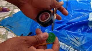 Como consertar piscina bestway furada na borda inflável parti 1