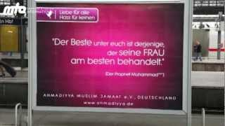Muslim for peace campaign  Germany Cologne Poster Islam Ahmadiyyat
