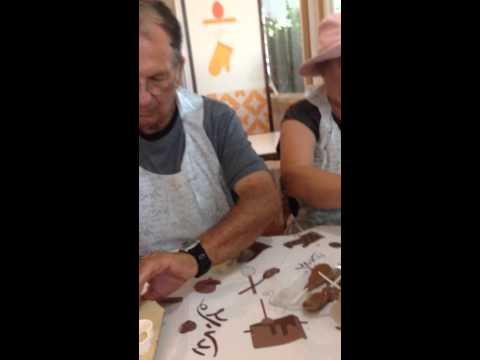 Chocolate making at Kibbutz Degania, Israel