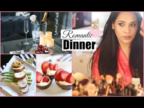 Get Ready With Me Romantic Date Night - Valentine's Day Dinner Chicken Cordon Blue  MissLizHeart