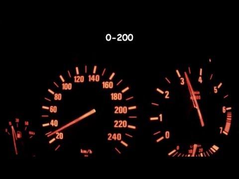 BMW 520i E39 0-100, 0-200 Acceleration, Top Speed
