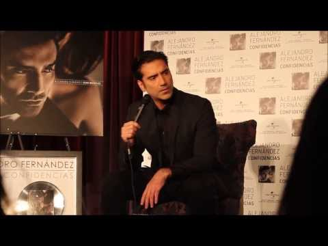 Alejandro Fernandez talks about his duet with Christina Aguilera (Press Conference Los Angeles)