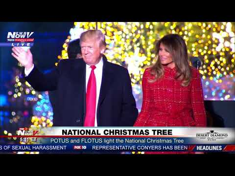 WATCH: President Trump and First Lady Melania Trump Light National Christmas Tree