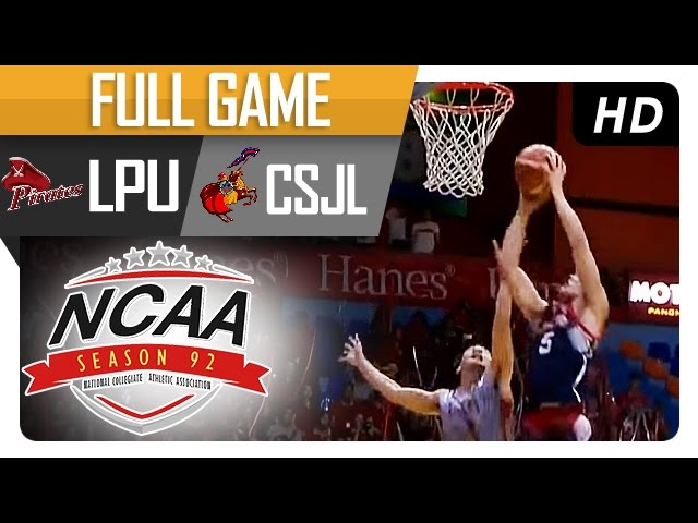 LPU vs CSJL | Full Game - 1st Quarter | NCAA 92 - August 5, 2016