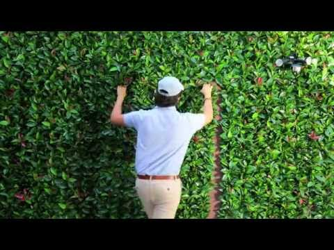 Artificial leaf panels. Installation. GreenSmart Decor.