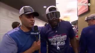Yasiel Puig Hilarious Postgame Interview | Dodgers vs Giants