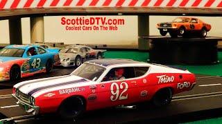 Carrera Digital 132 Bobby Unser #92 Ford Torino Talladega Review  ScottieDTV International Raceway