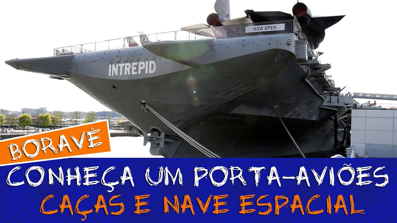 CONHEÇA UM PORTA-AVIÕES, uma nave espacial e caças #Boravê ????Manual do Mundo
