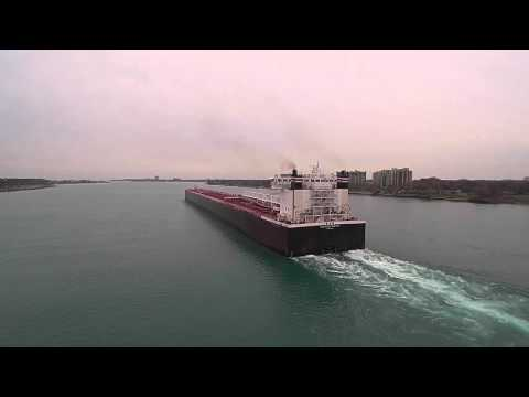Drone follow of American Century ship