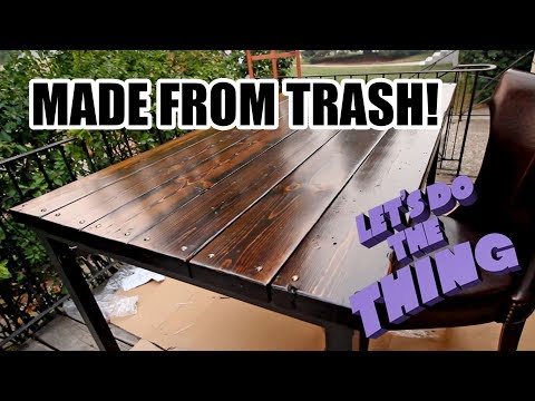 IKEA Furniture Hacks - Turning A Cheap Table Into Reclaimed Wood Art Piece