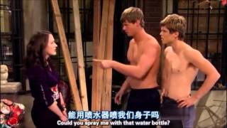 2 broke girls-amish boys got wet building the barn