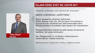 Köşe Yazıları | TAHA AKYOL - İslam'a göre evet mi, hayır mı? -  27.02.2017 - Hürriyet