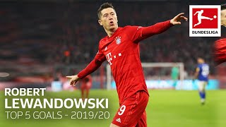 34 goals in matches and here are robert lewandowski's top 5 of 2019/20► sub now: https://redirect.bundesliga.com/_bwcswith an incredible mark ...