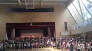 2016年8月27日 南小学校地域参観日 音楽集会 南っ子の元気な歌と...