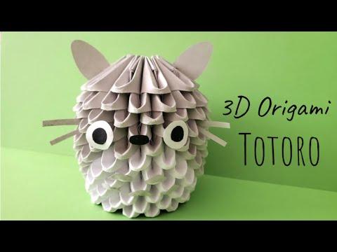 Origami Totoro Tutorial & Free Printable Paper - DIY - Paper ... | 360x480