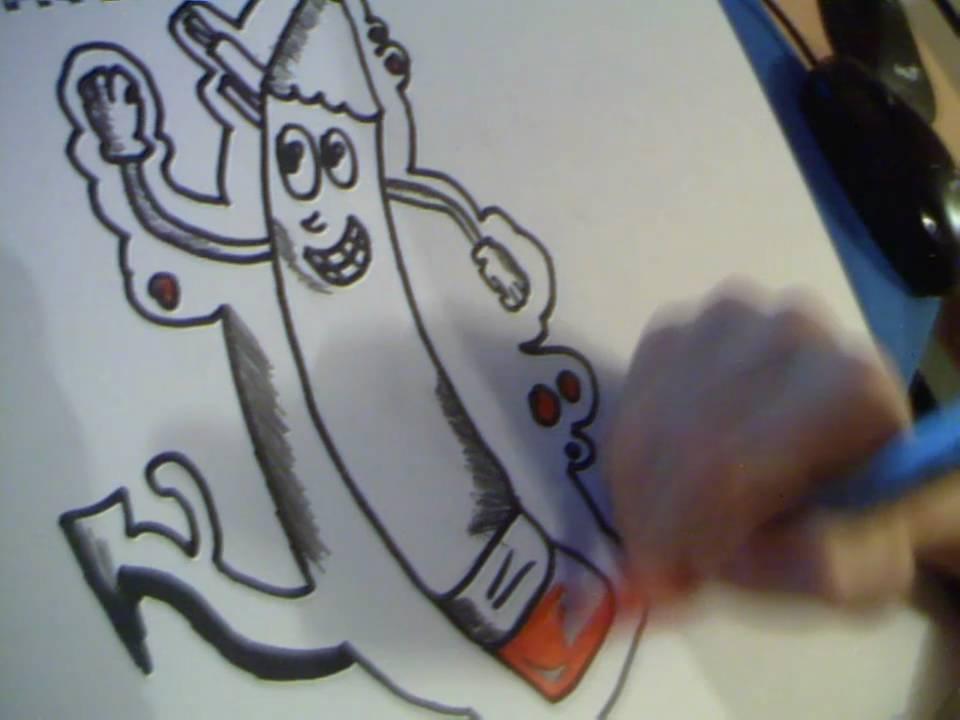Drawing Graffiti Pencil Youtube