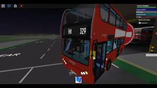 Roblox North London bus Simulator Testing Enviro 400 Trident Arriva London Using Route 329