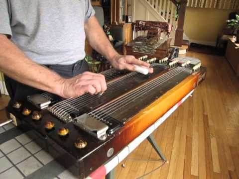 gibson triple neck steel guitar modified e13th tuning youtube. Black Bedroom Furniture Sets. Home Design Ideas