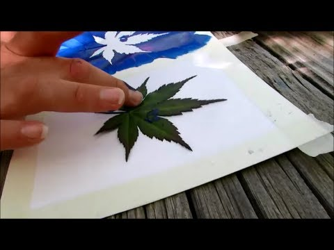 How To Make Leaf Stamp Art - SUMMER FUN SERIES
