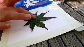 How to make leaf stamp art - SUMMER FUN SERIES