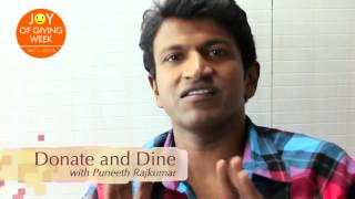Celebrate Joy of Giving Week with Actor Puneeth Rajkumar (Kannada)