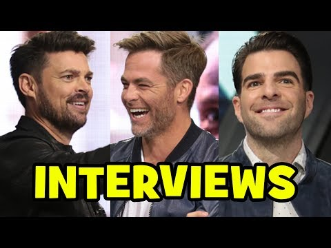 Star Trek Beyond Cast Interviews - Chris Pine, Zachary Quinto, Karl Urban, JJ Abrams, Justin Lin